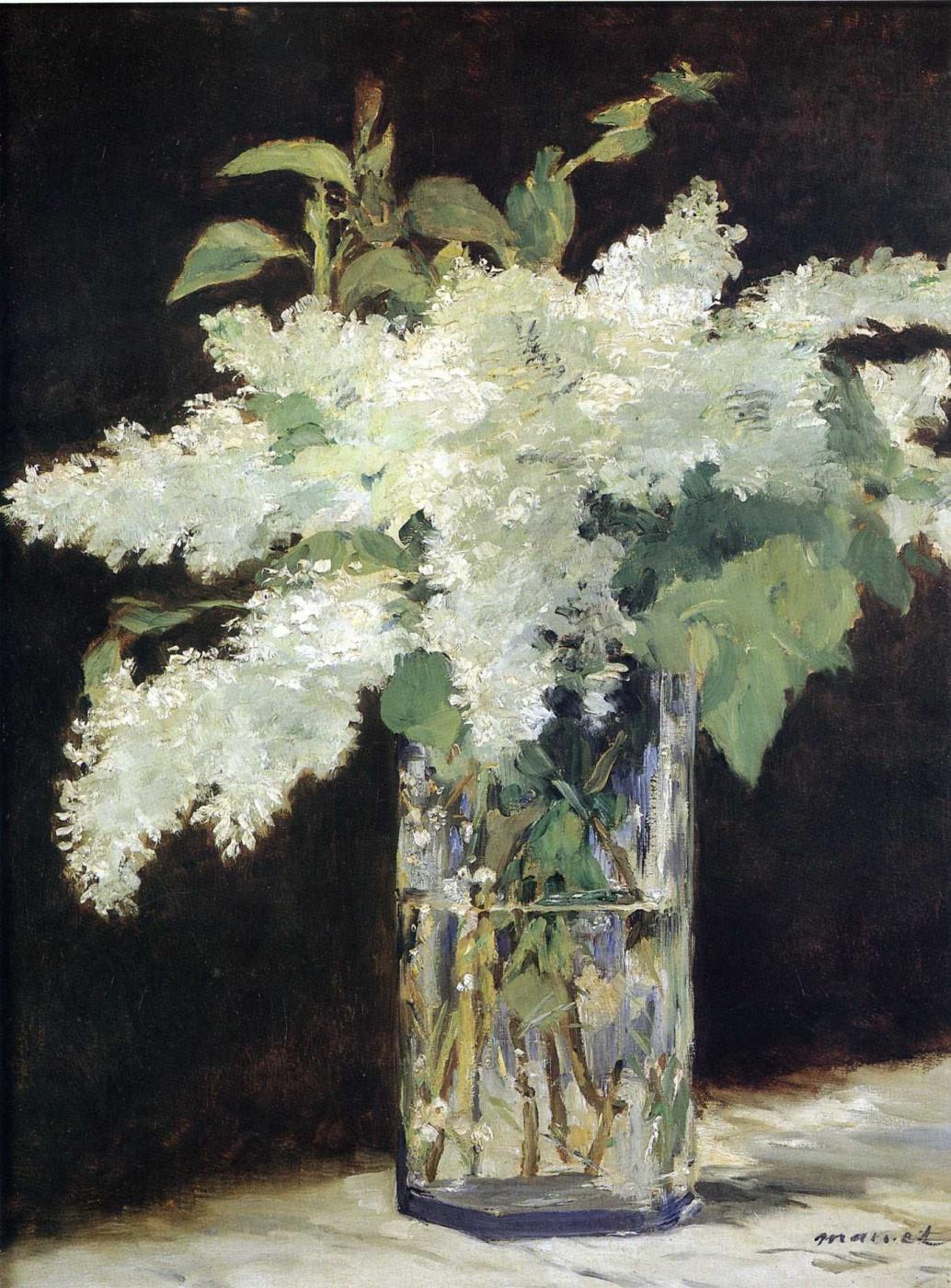 Edouard Manet. A bouquet of lilacs