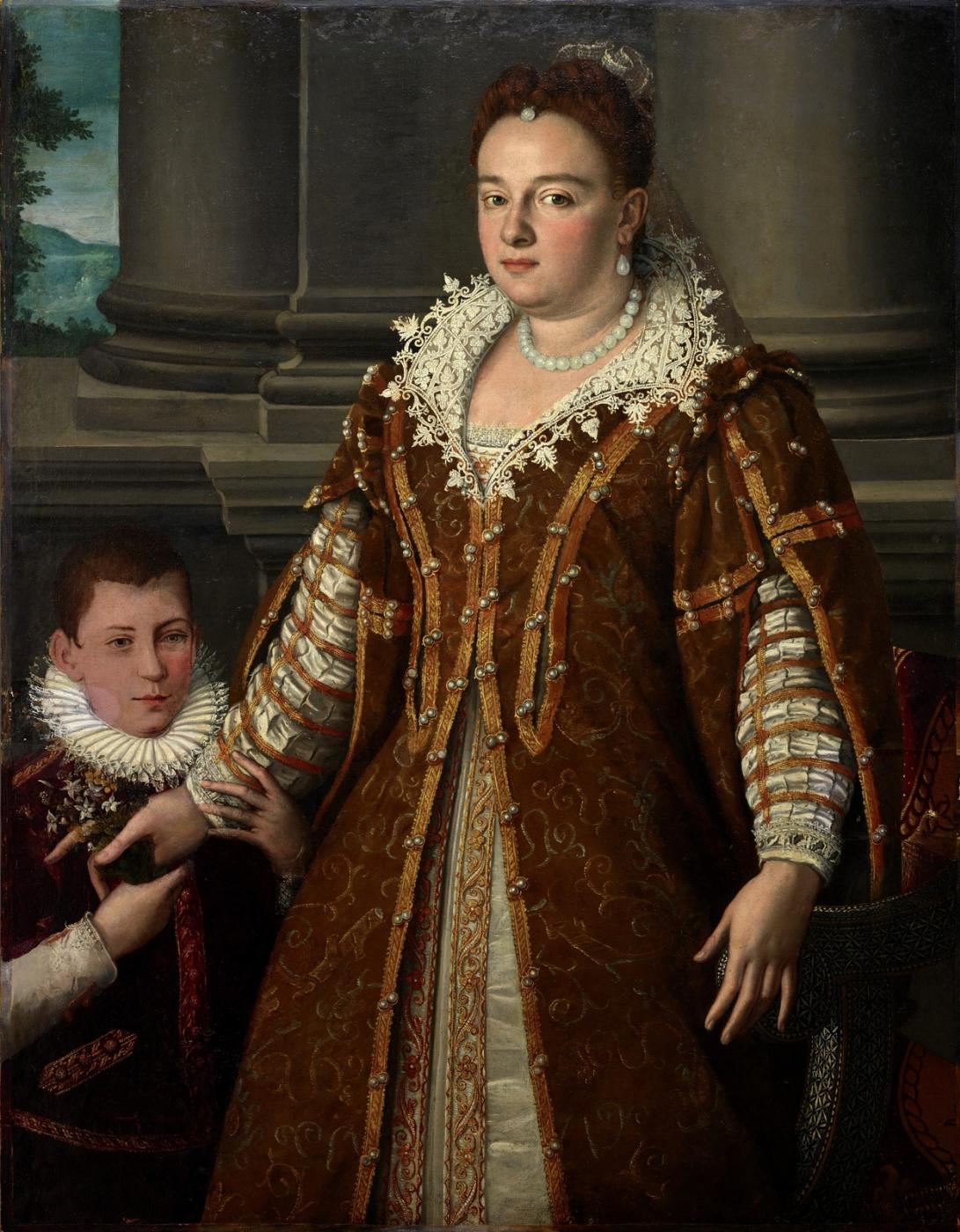 Alessandro Allori. The Grand Duchess Bianca Capello de Medici with her son. 1580-1614