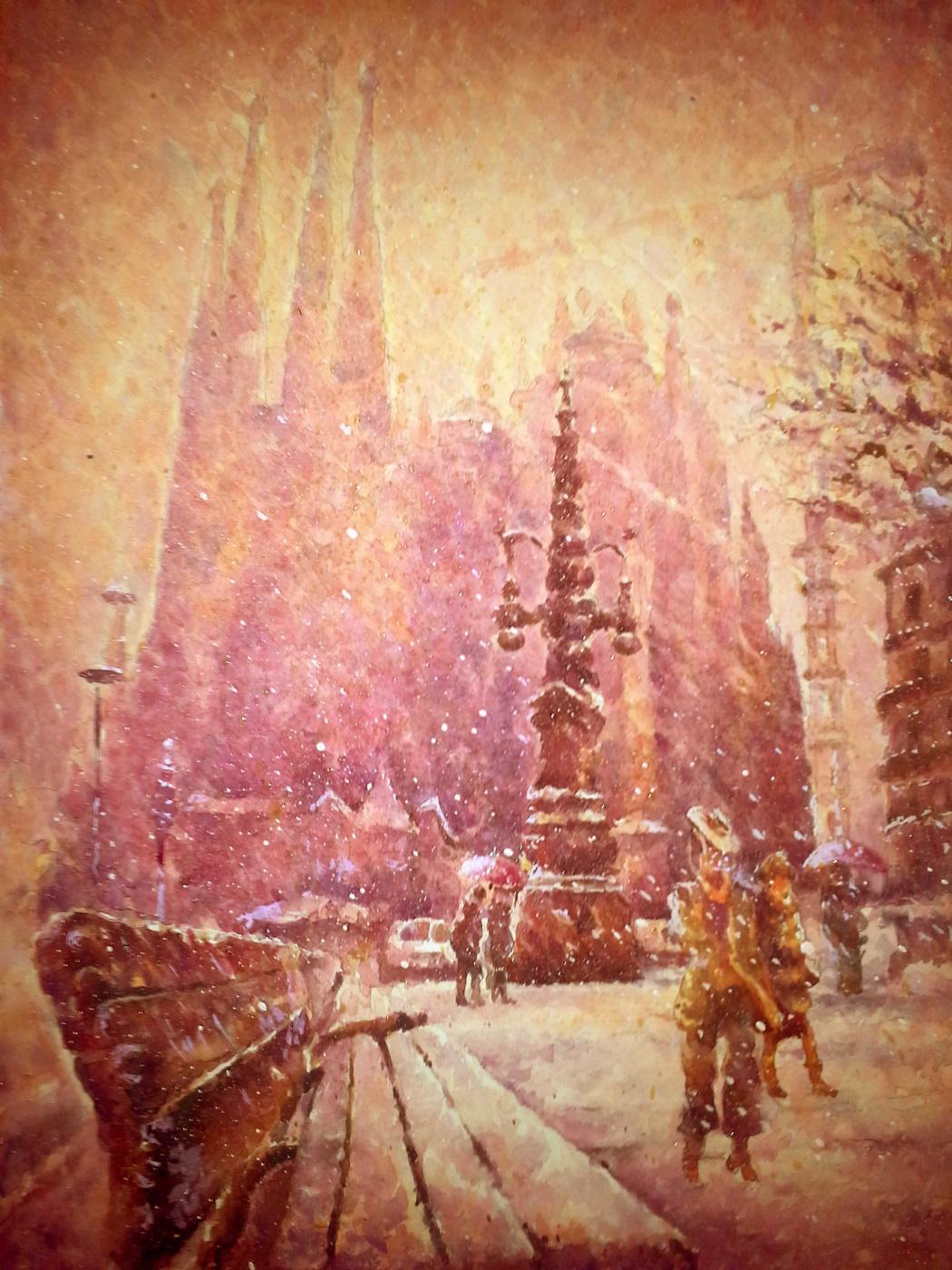 Alexey Yuryevich Maslov. Winter barcelona