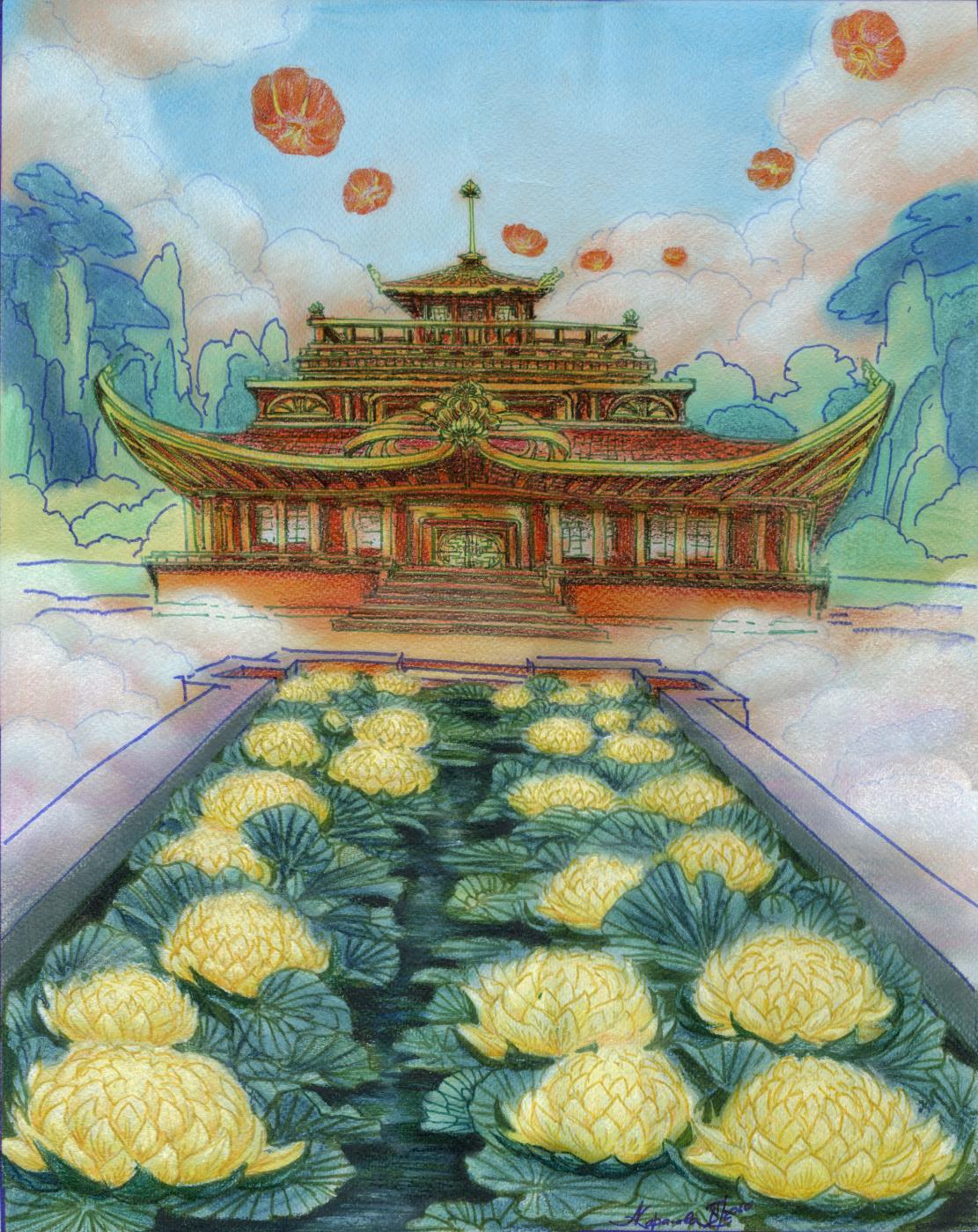 Anastasia Karaseva. Golden lotuses