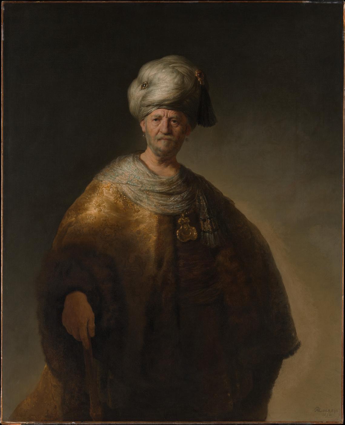 Rembrandt Harmenszoon van Rijn. Man in Oriental costume (the Noble Slav)