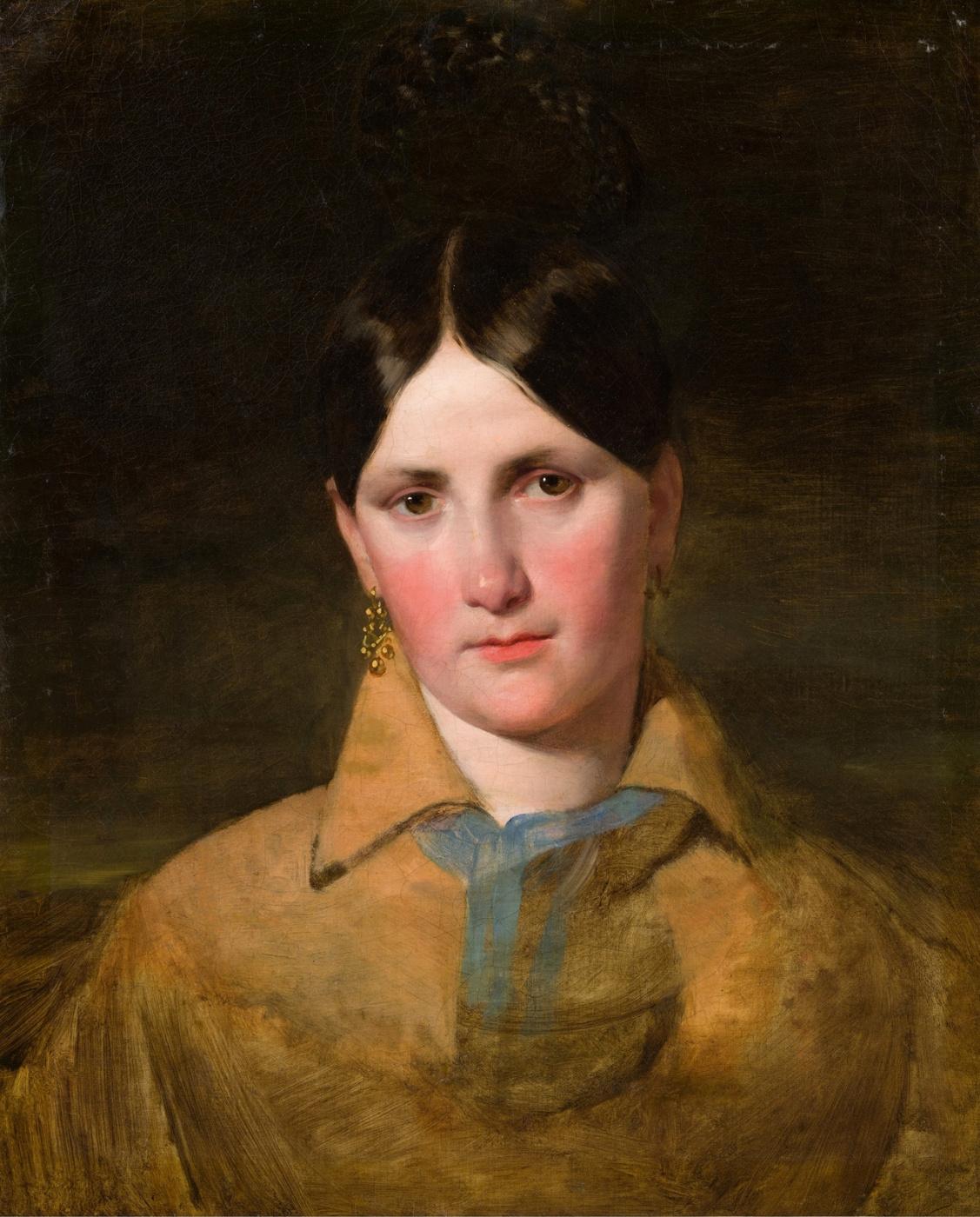 Friedrich von Amerling. Portrait of Antonia von Kaltenthaler, the first wife of Amerling. 1840