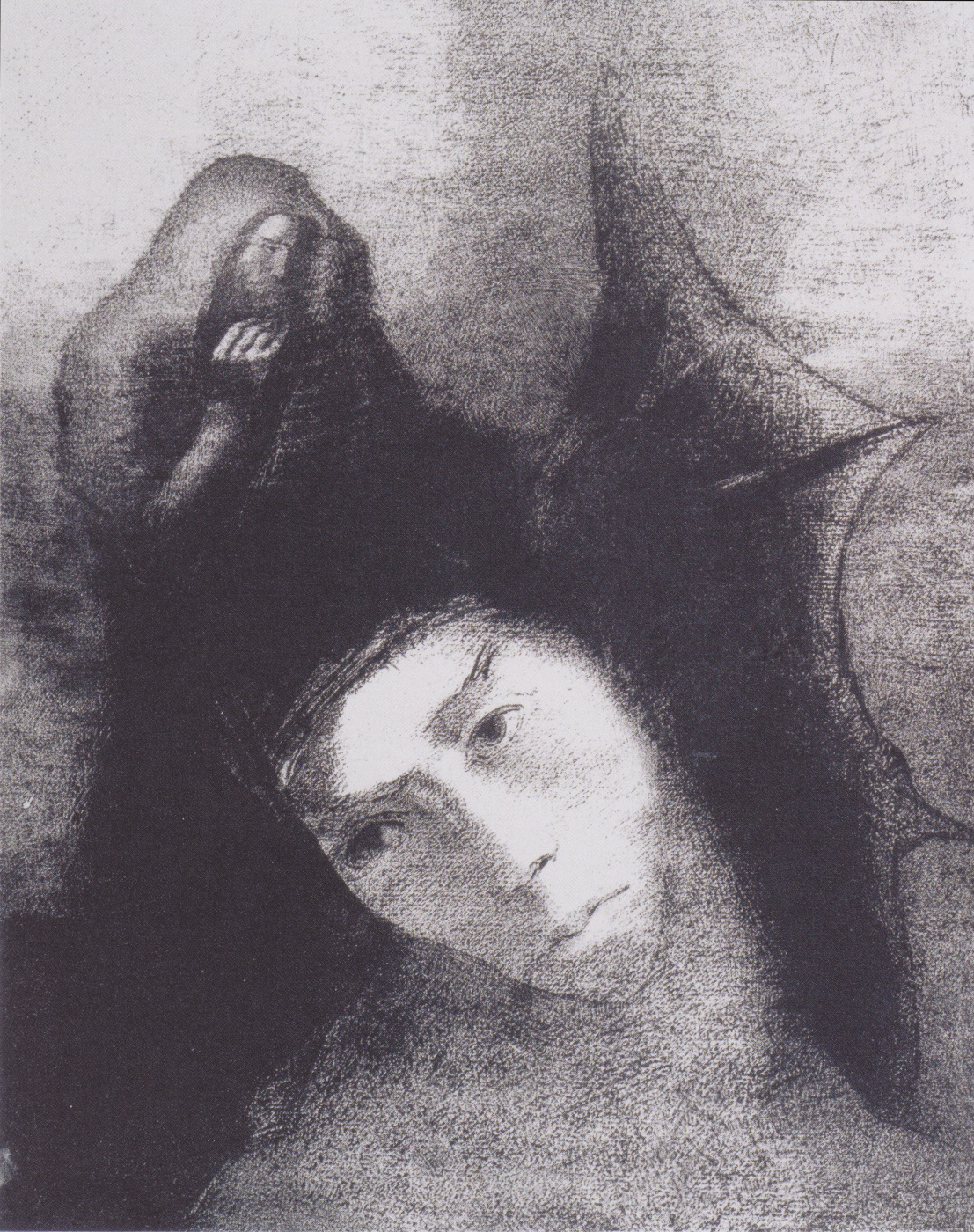 """Odilon Redon. Series """"The Temptation of Saint Anthony"""": Antony: What is the point of all this? Devil: There is no point!"""