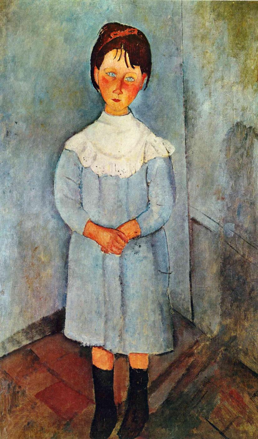 Амедео Модильяни. Девочка в голубом платье
