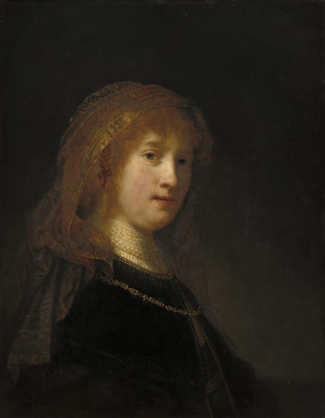 Rembrandt Harmenszoon van Rijn. Saskia van Uylenburg, the artist's wife