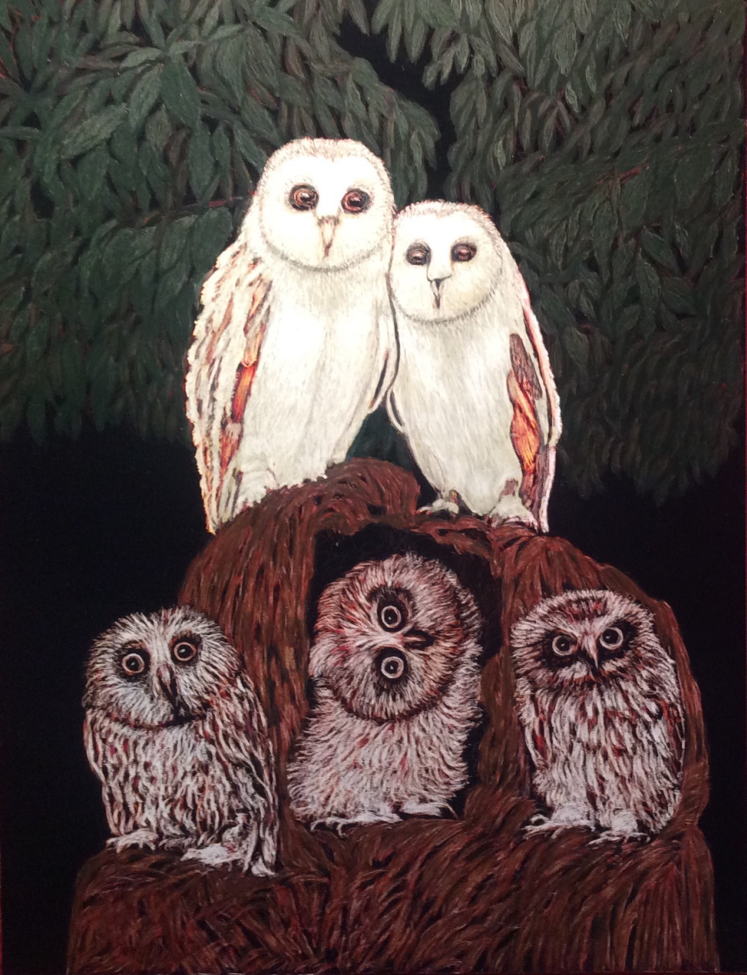 Martin Gurgenovich Ashkhatoev. Owls