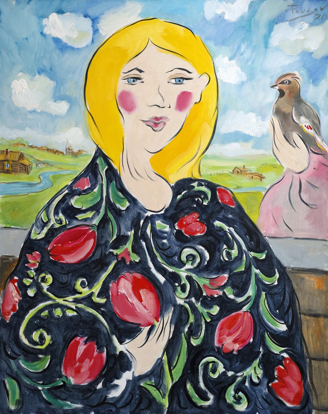 Konstantin Prusov. Martha and the waxwing
