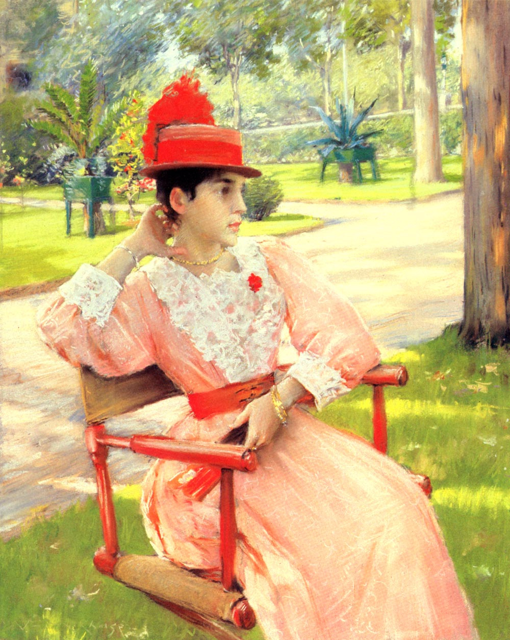 William Merritt Chase. In the second half of the day in the Park