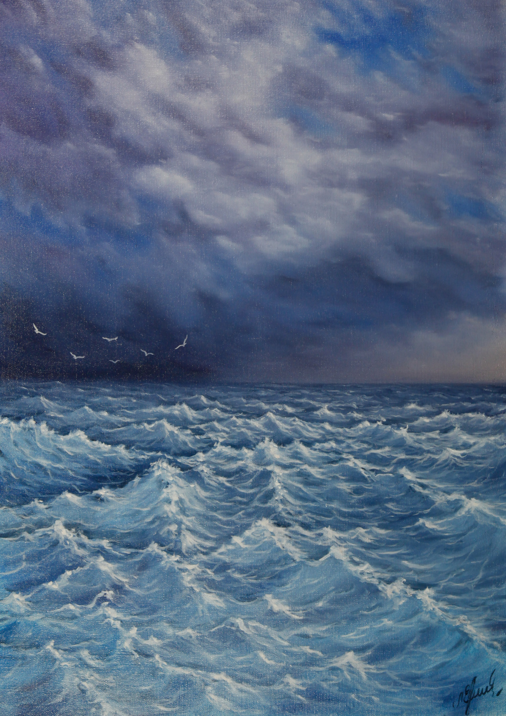 Valery Levchenko. No. 106 The sea is worried