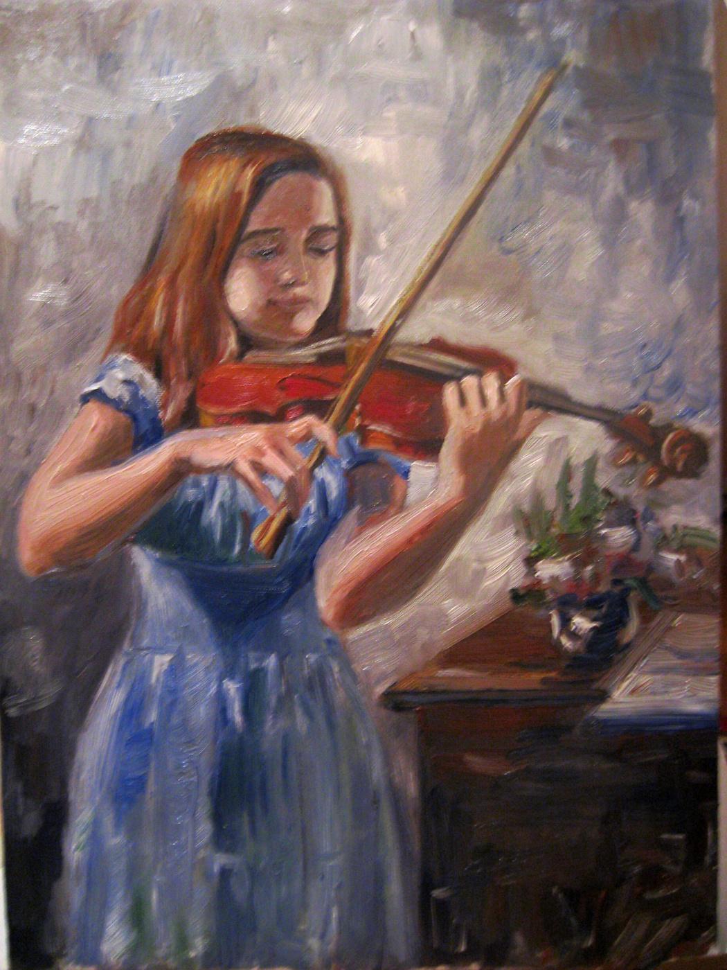 Olga Suncheleeva. Violinist Lola