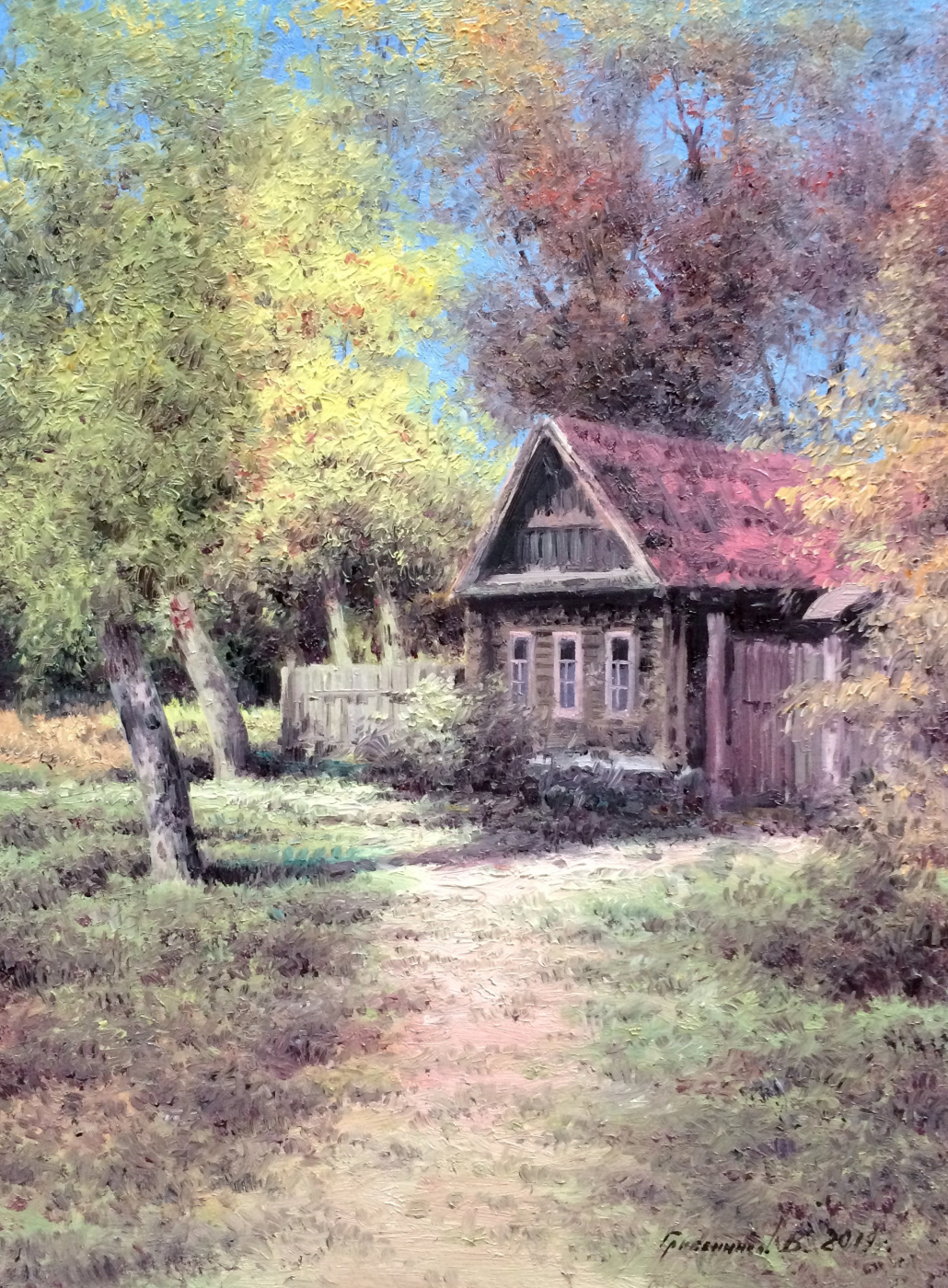 Vasily Ivanovich Gribennikov. House among trees