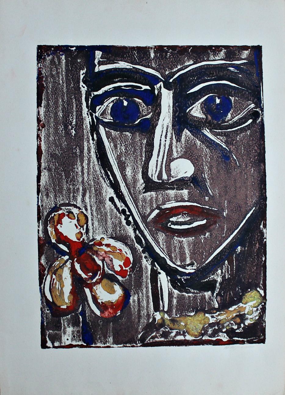 Vladimir Churkin. Face with a flower