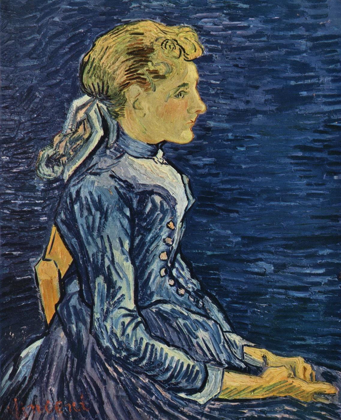 Vincent van Gogh. Portrait of Mademoiselle Rav
