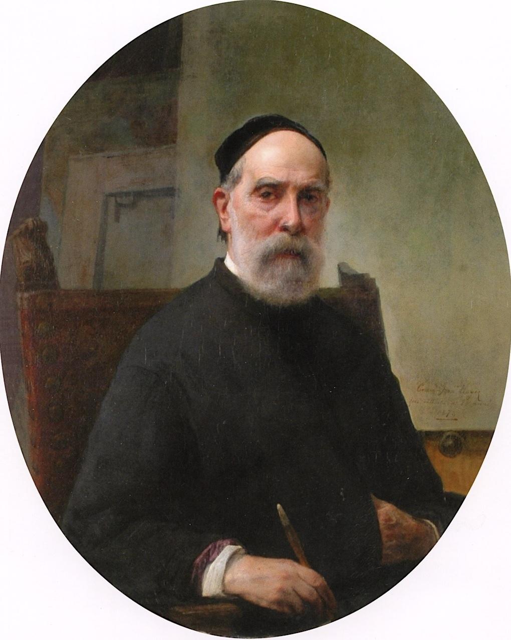 Francesco Ayets. Self-portrait at 88