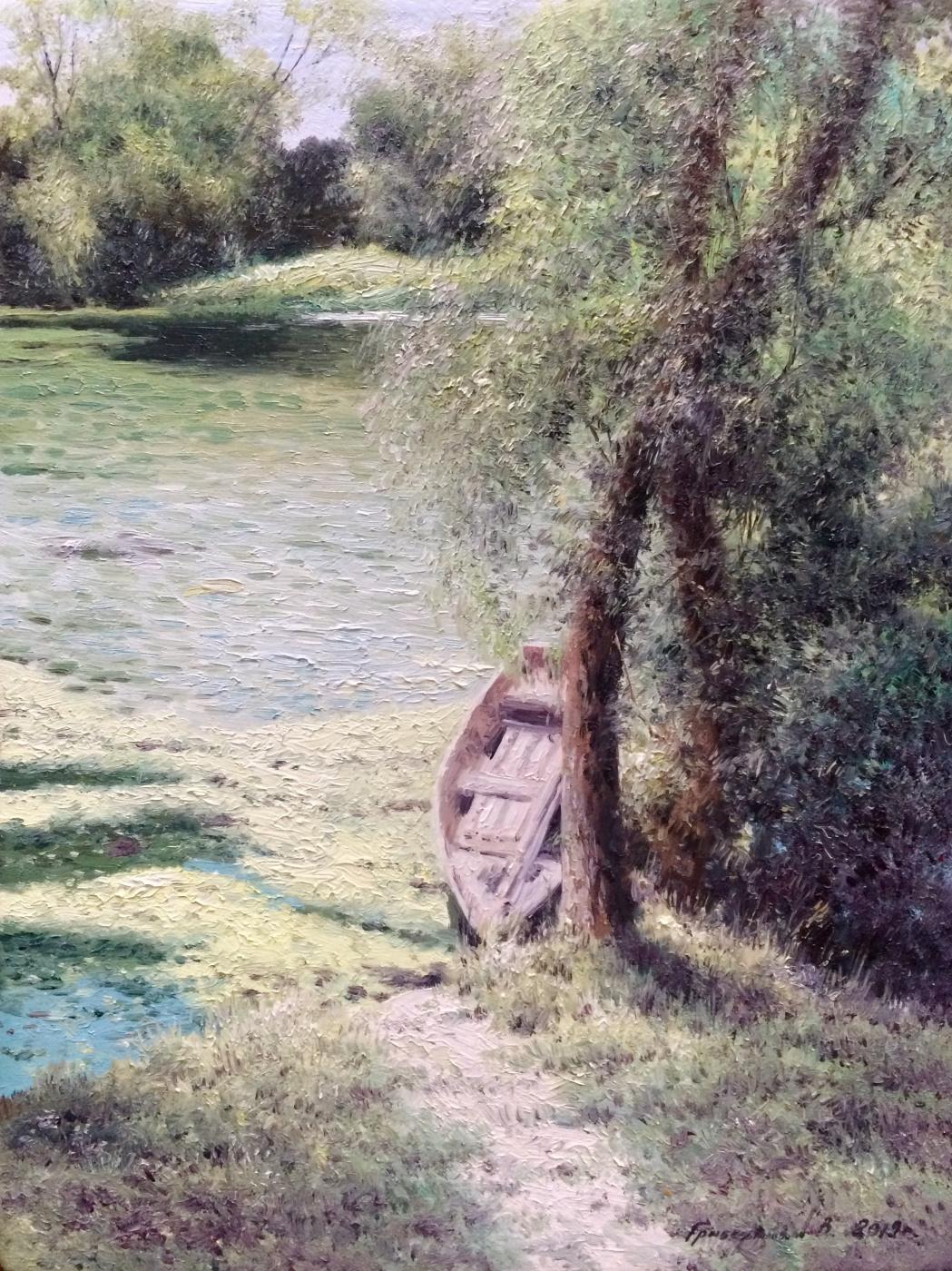 Vasily Ivanovich Gribennikov. Boat near the shore