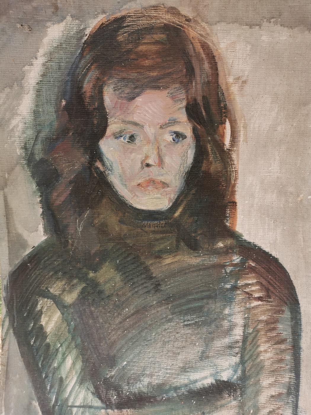 I. Zborsky. Portrait of Alena Kensovskaya (artist-restorer)