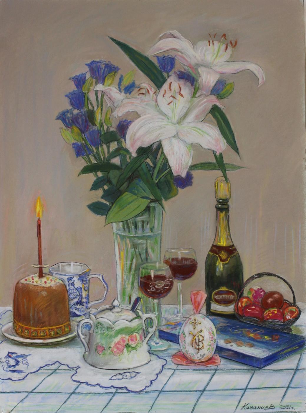 Eugene Alexandrovich Kazantsev. Still life Easter.