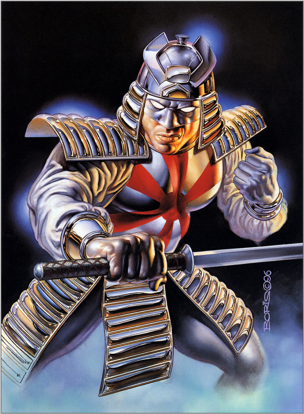Boris Vallejo (Valeggio). Silver samurai