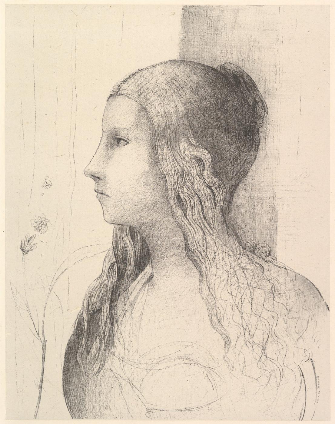 Odilon Redon. Brünnhilde (Twilight Of The Gods)
