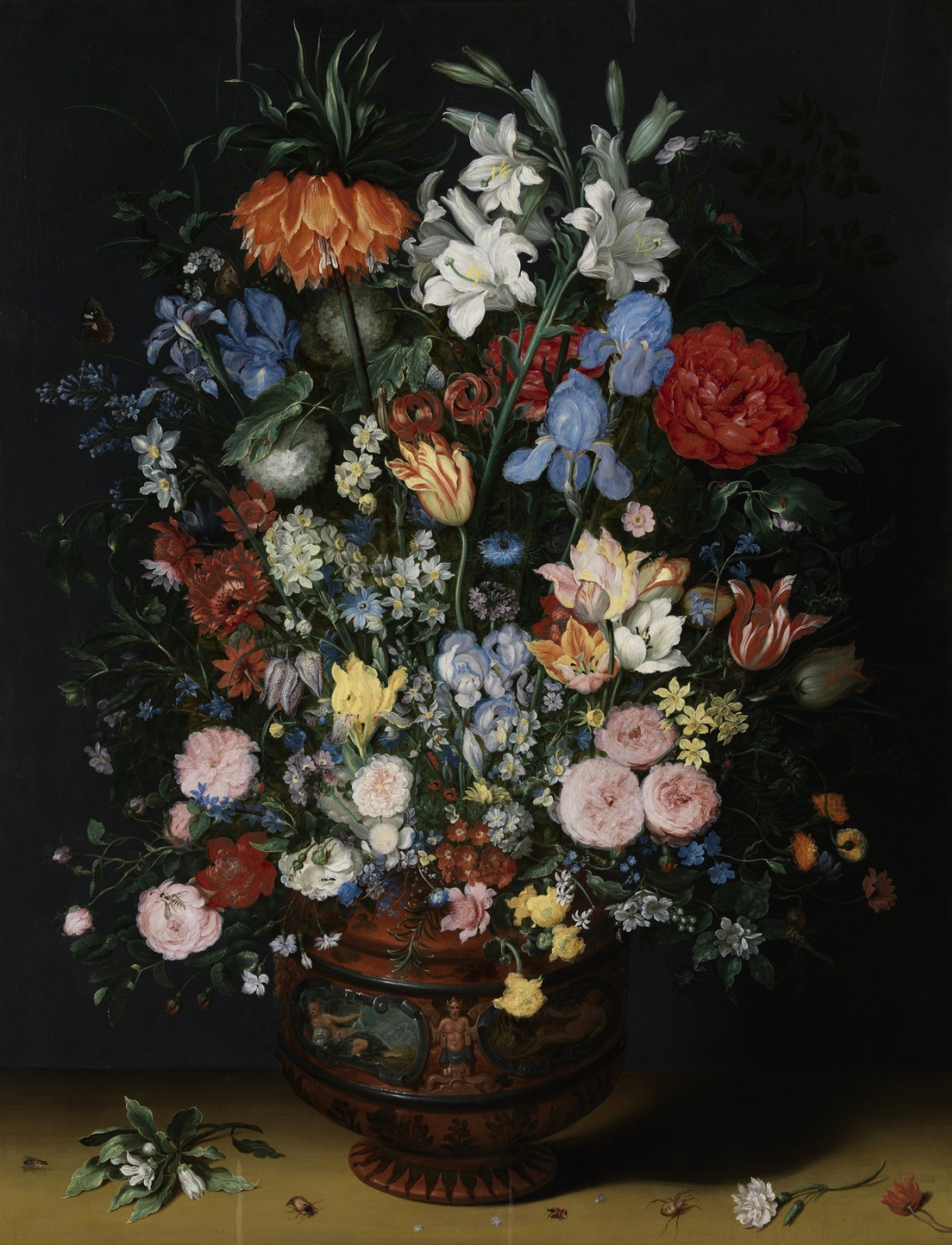 Jan Bruegel The Elder. Flowers in a terracotta vase