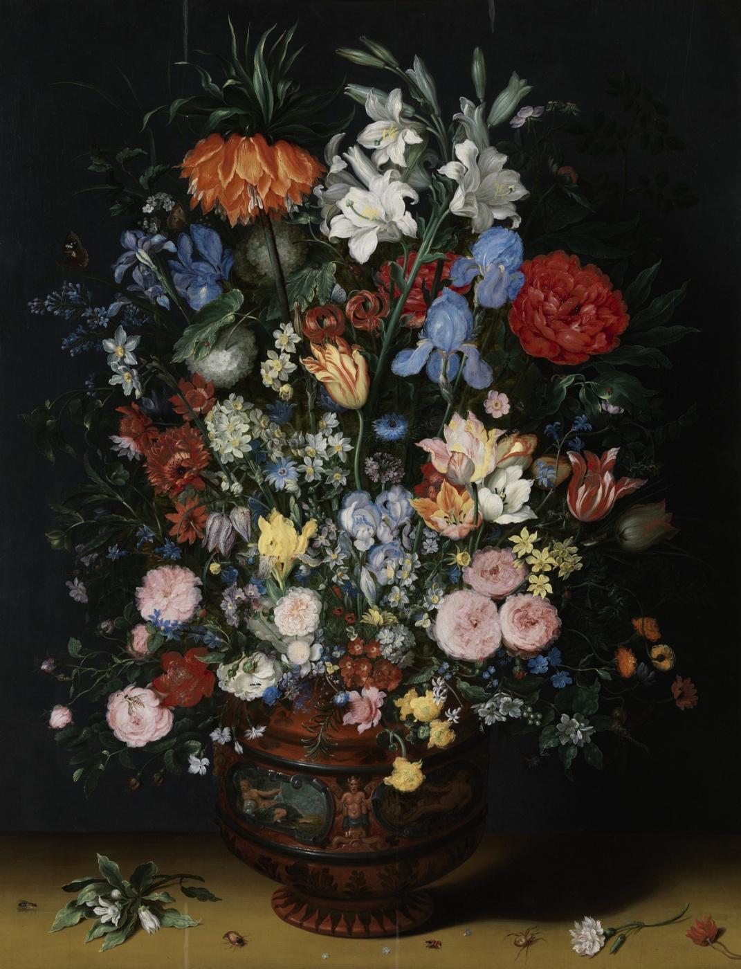 Jan Bruegel The Elder. Flowers in a terracotta vase.