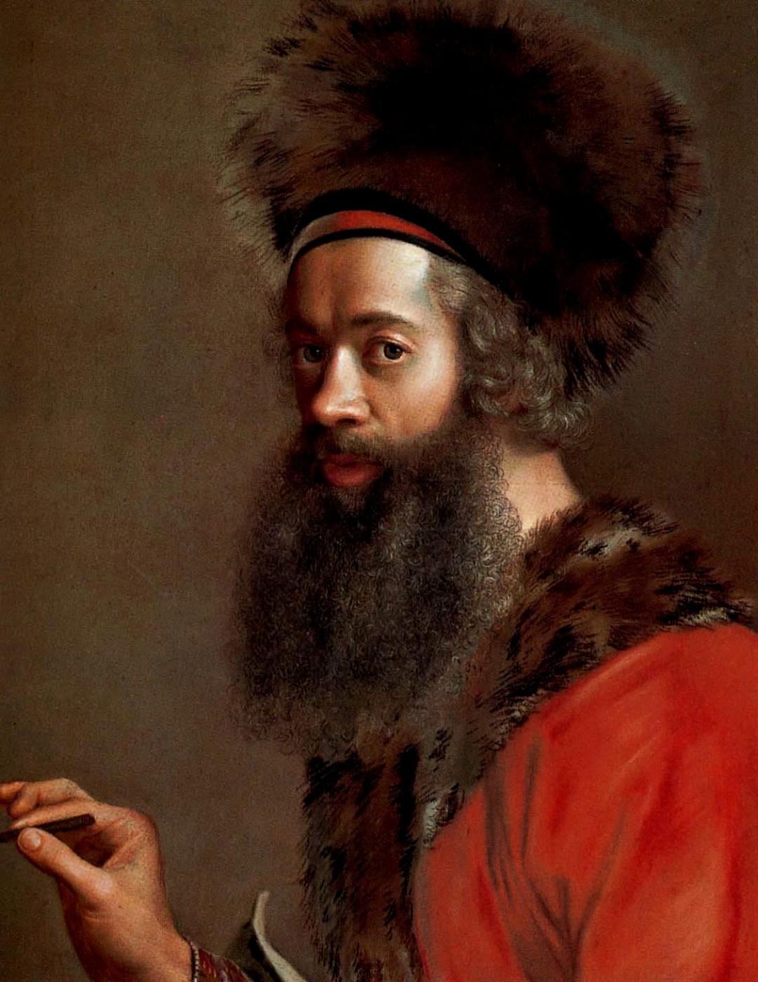Jean-Etienne Liotard. Self portrait in Turkish costume