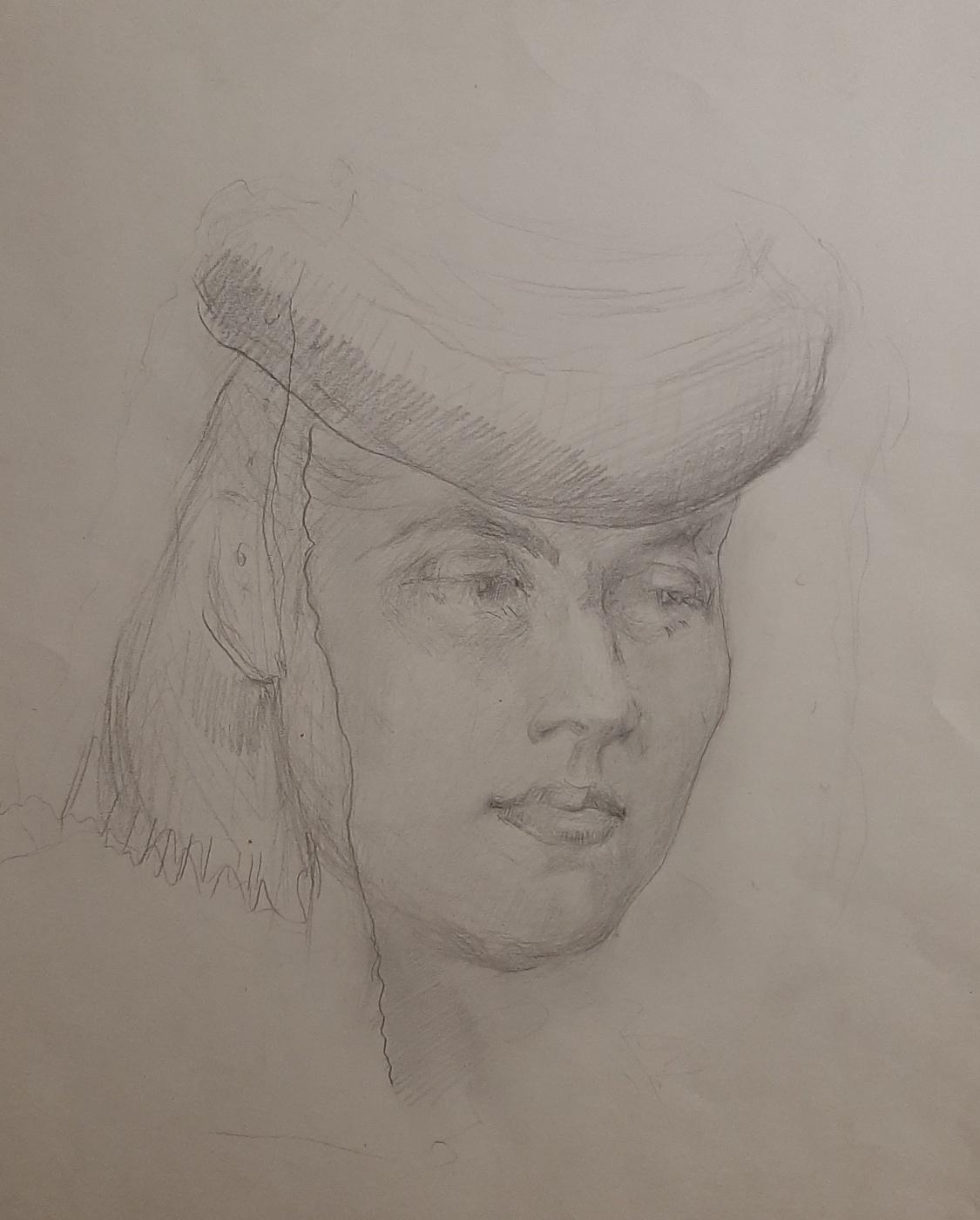 Natalia Agapieva - Zakharova. Female portrait. In the national headdress.