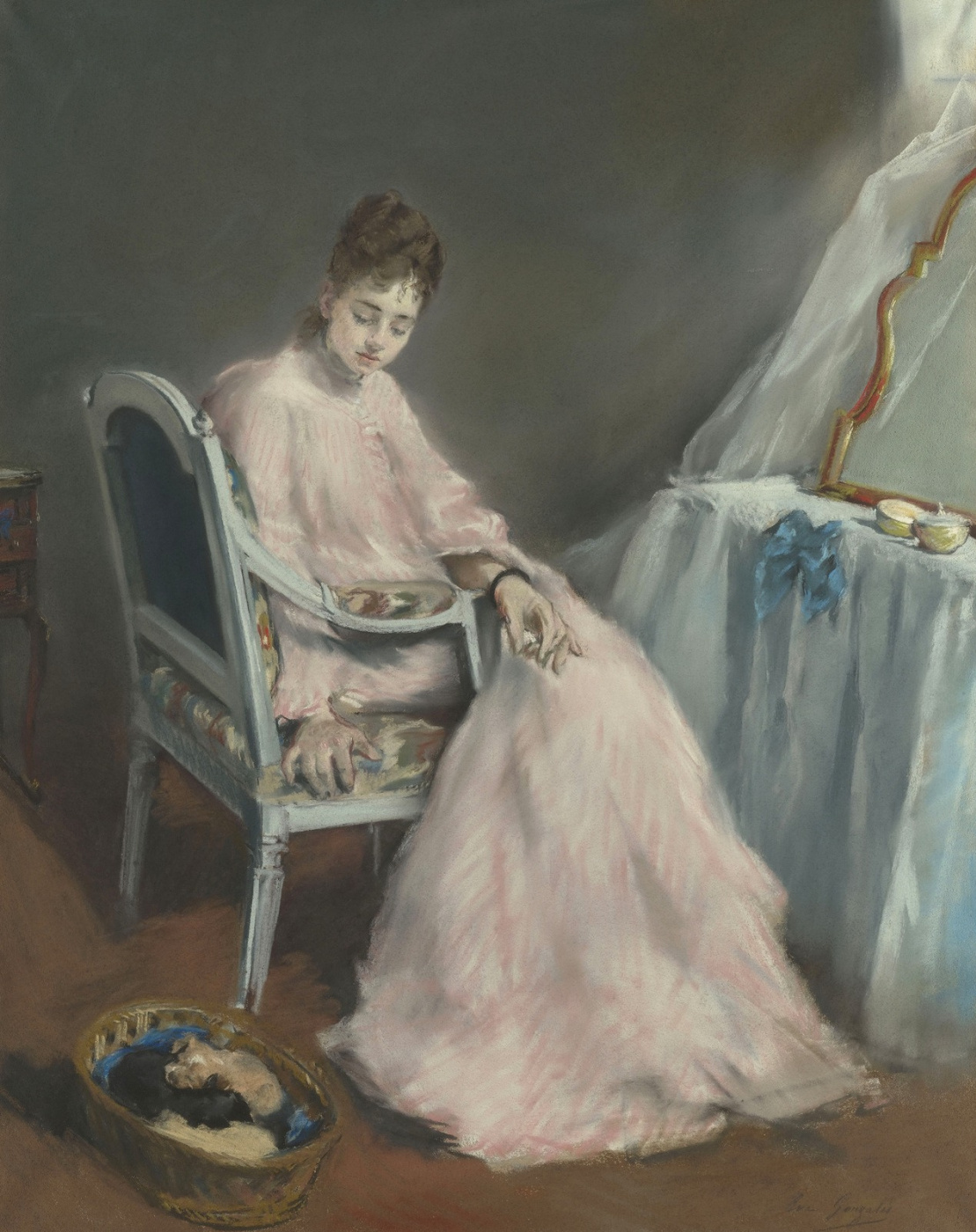 Eva Gonzalez. Woman in white