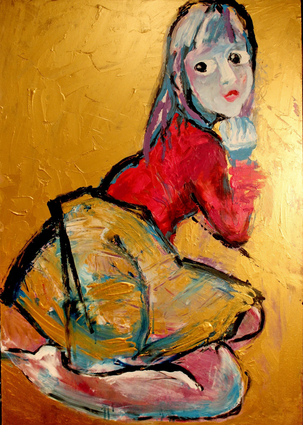 Tanya Strelbitskaya. Girl listening to jazz