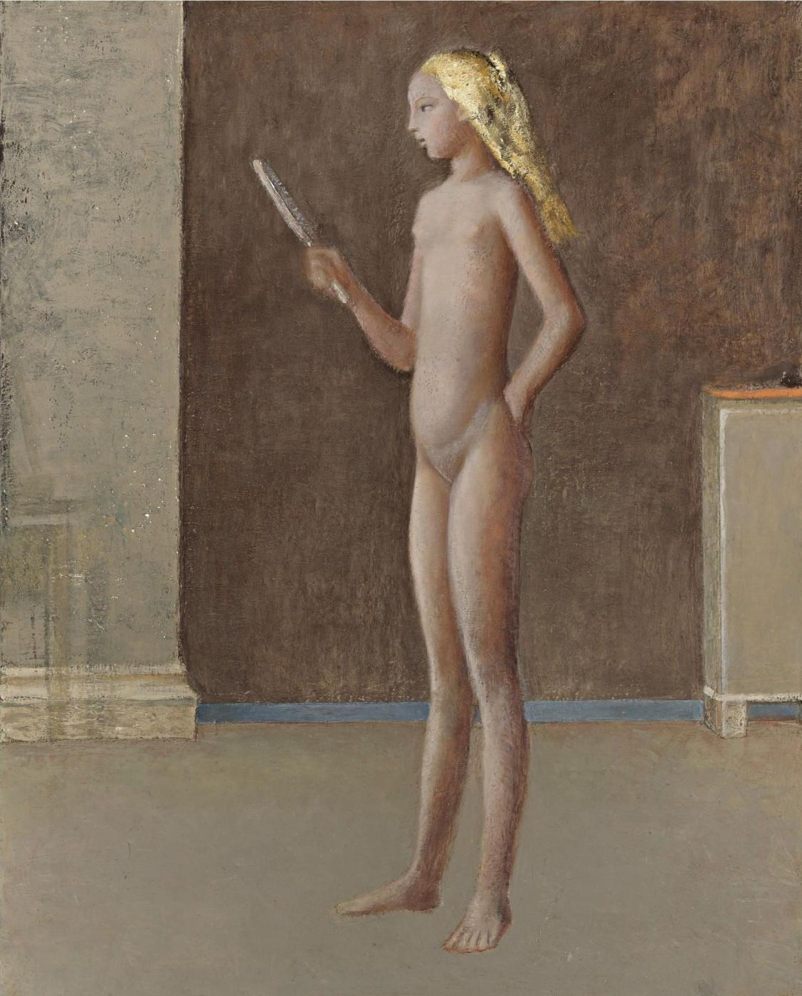 Balthus (Balthasar Klossovsky de Rola). Nude with mirror