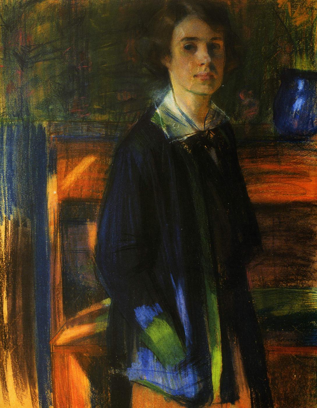 Alexander Murashko. Portrait of the artist L. M. Kovalevskaya