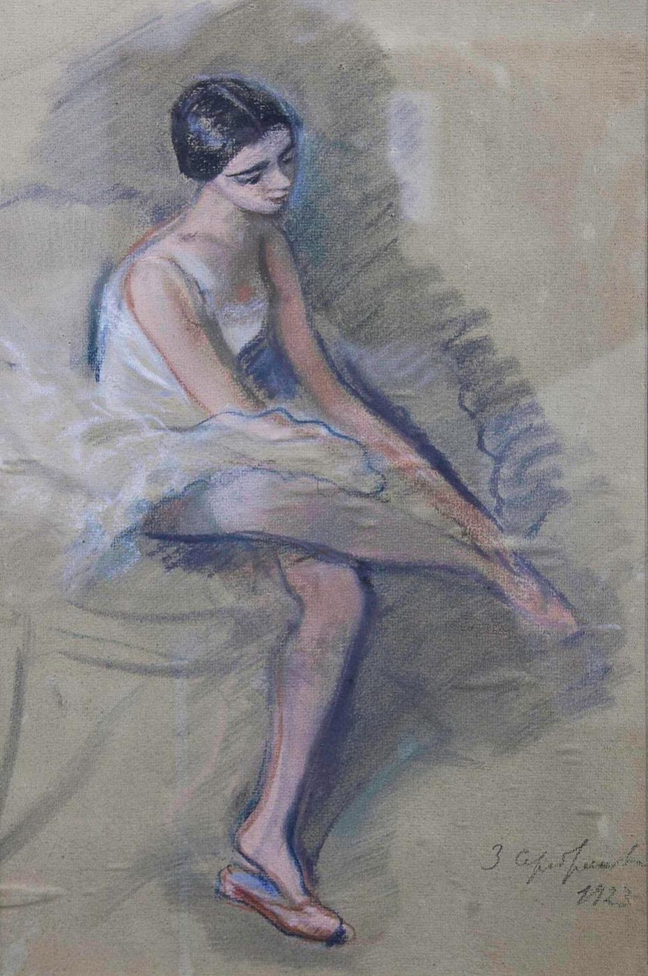 Зинаида Евгеньевна Серебрякова. После выступления. Балерина Е. Н. Гейденрейх