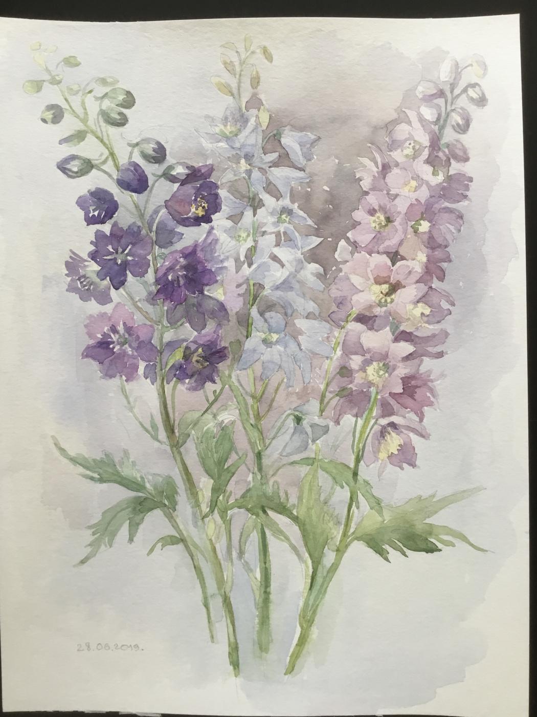 Vladimir Petrov. Study with flowers