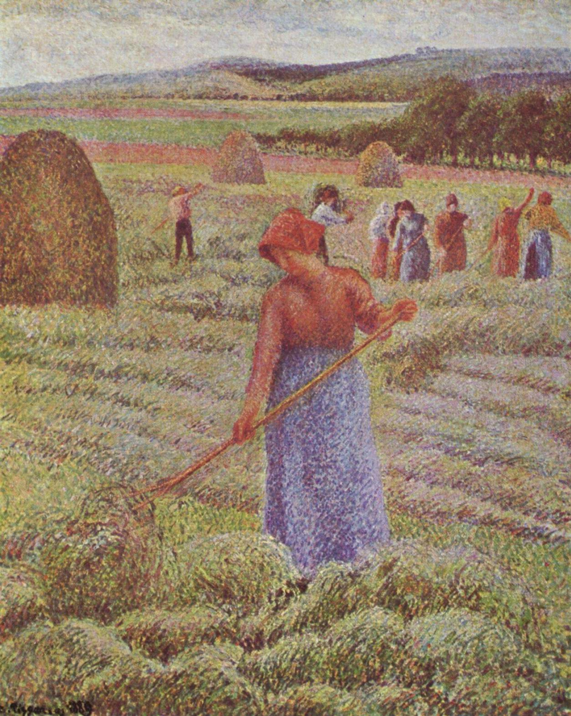 Camille Pissarro. Haymaking in Eragny