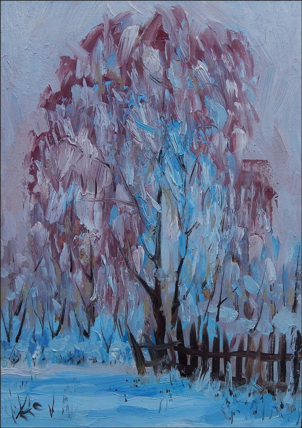 Unknown artist. Winter landscape.