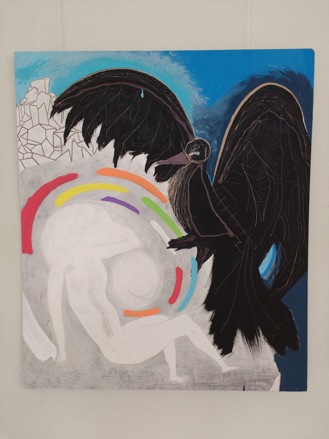 Pavel Turemsky. Crow. 105х90 cm__DVP, acrylic, varnishes, graphite. 2013 -...