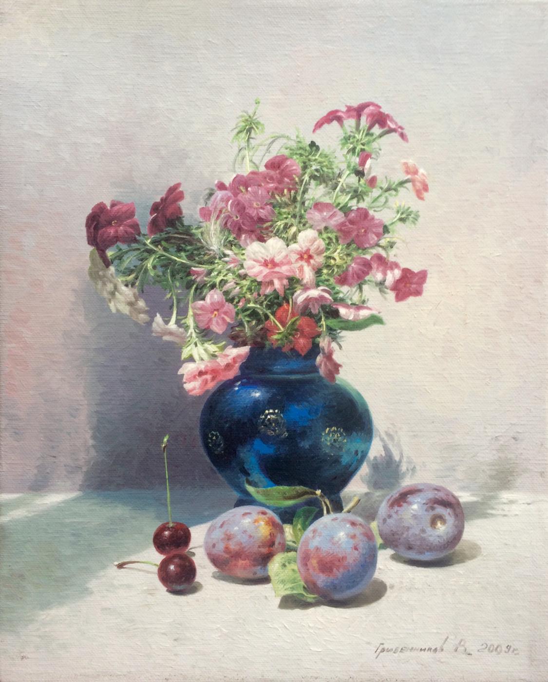 Vasily Ivanovich Gribennikov. Still Life with Phlox