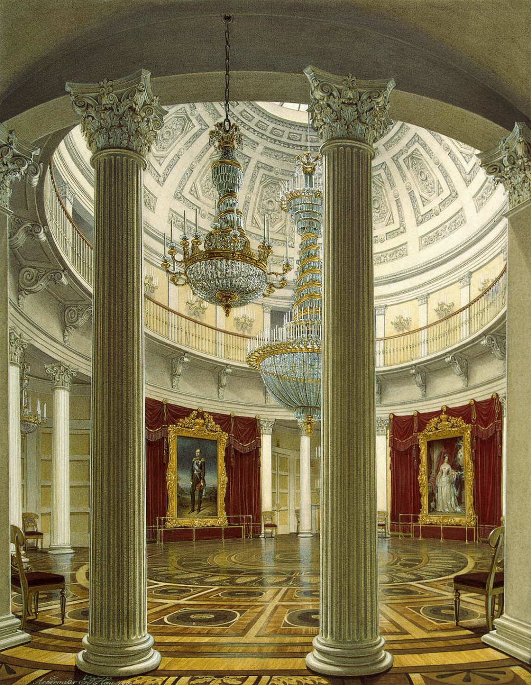 View of the Rotunda in the Winter Palace by Edward Petrovich Hau
