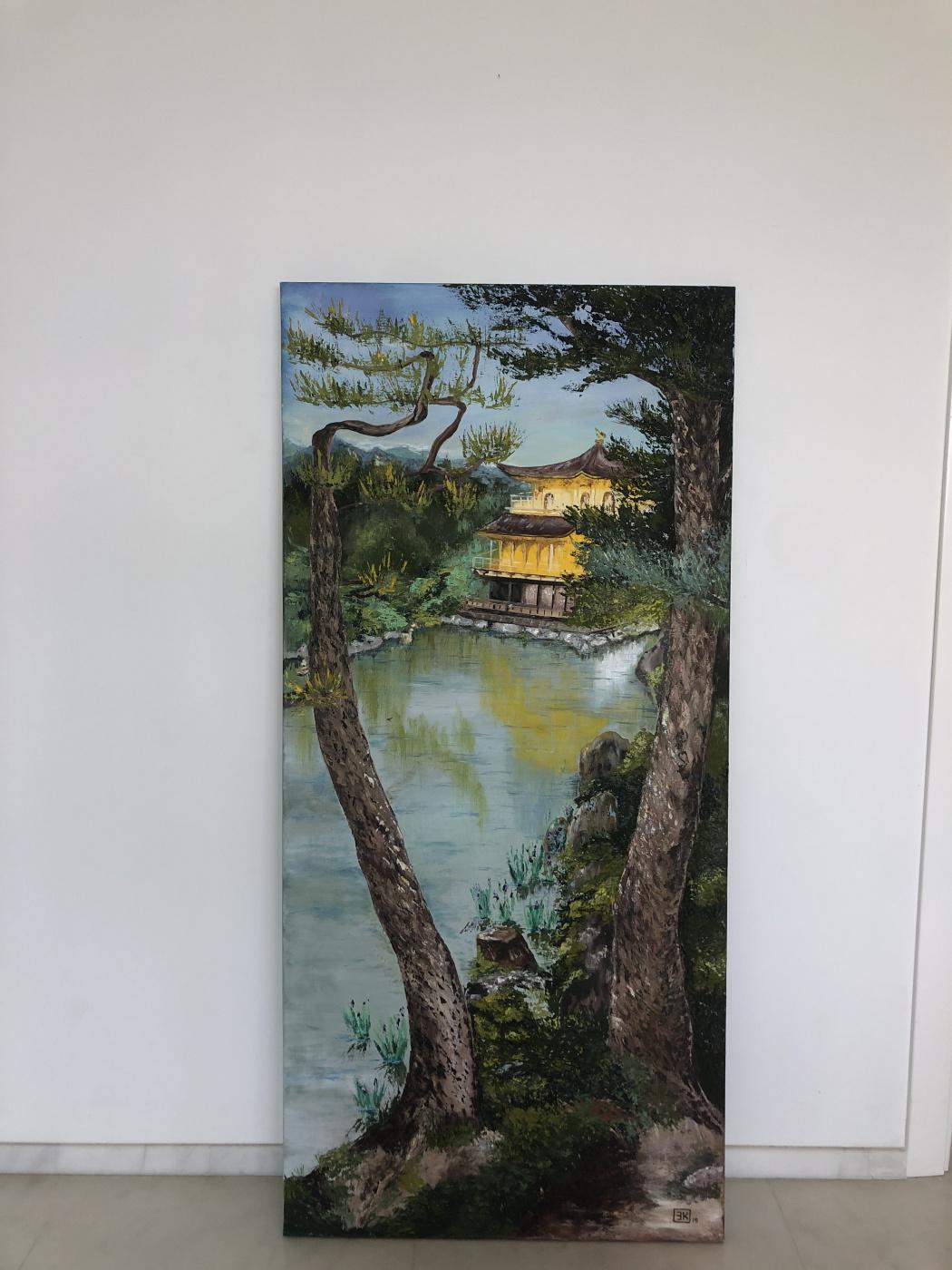 Elmira Kandykbayeva. Golden Temple in Japan