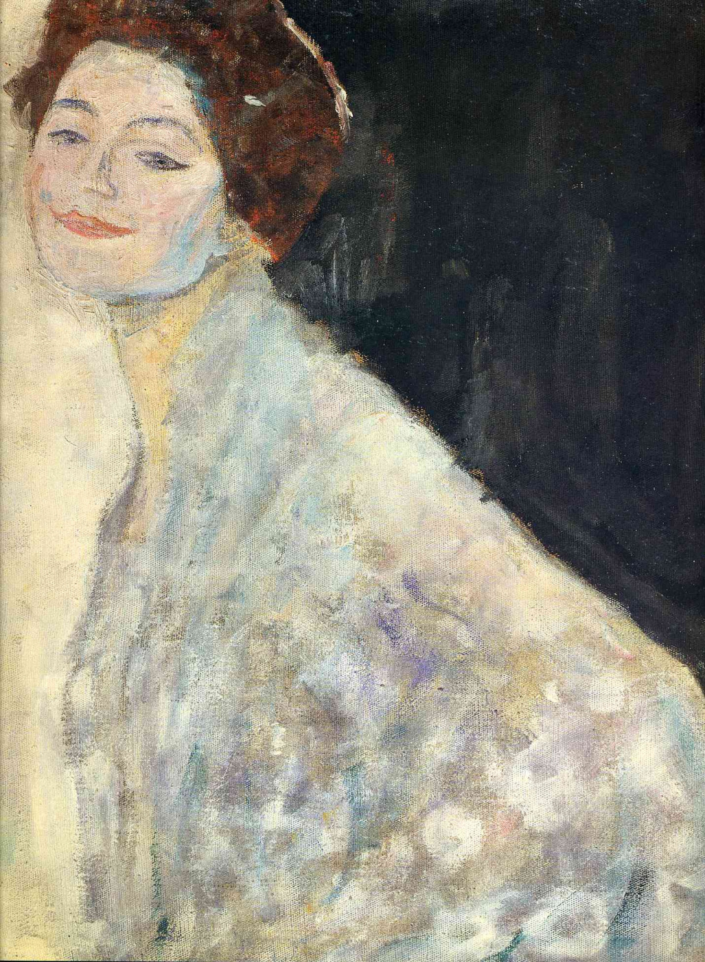 Gustav Klimt. The portrait of a lady in white