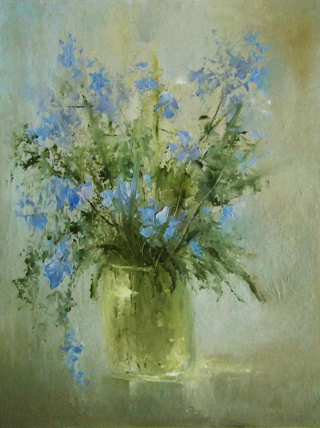 Elena Yudina. Blue flowers