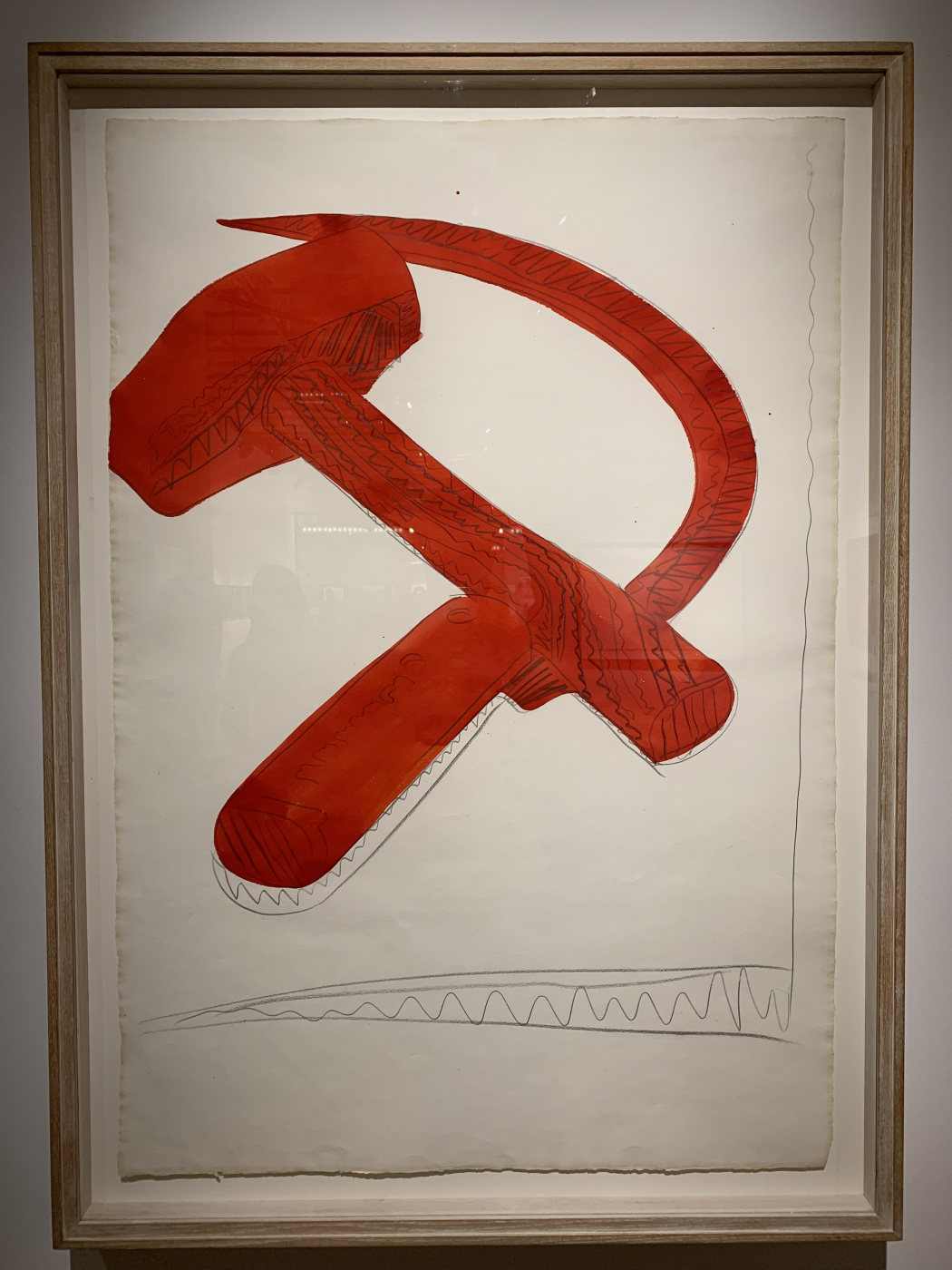 Andy Warho. Hammer and sickle