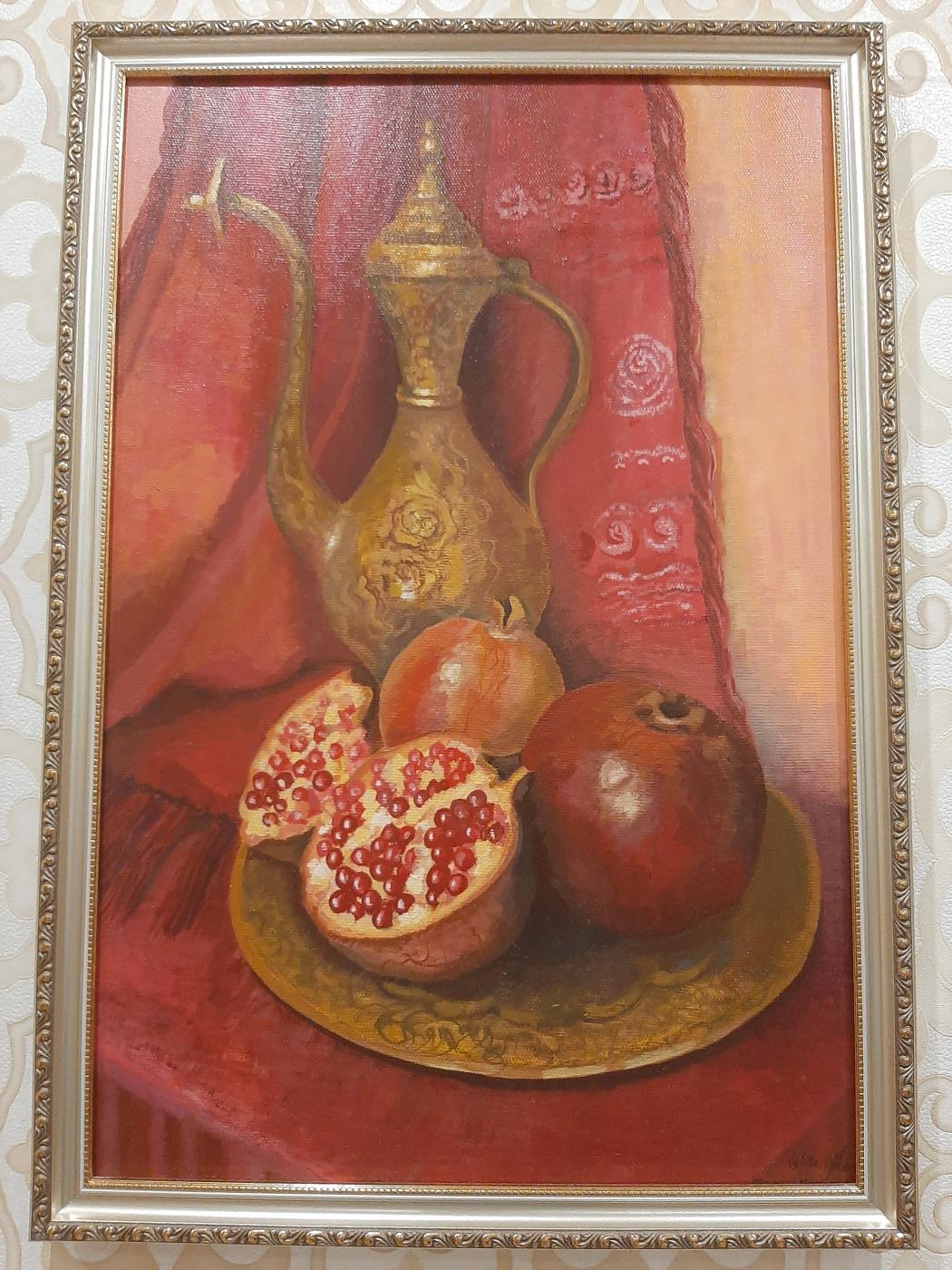Irina Topchy. Still life with pomegranates