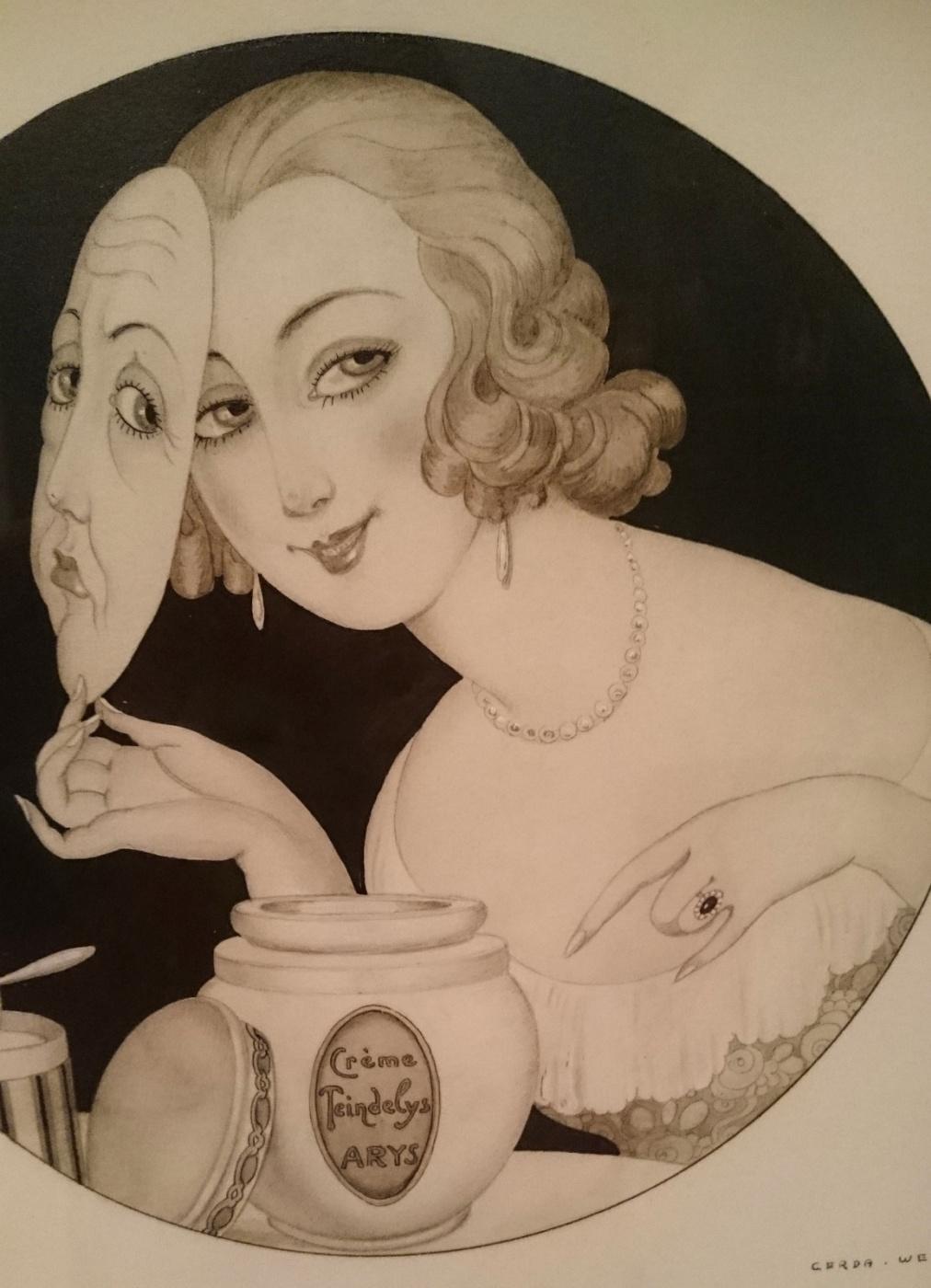 Gerda Wegener. Woman with mask