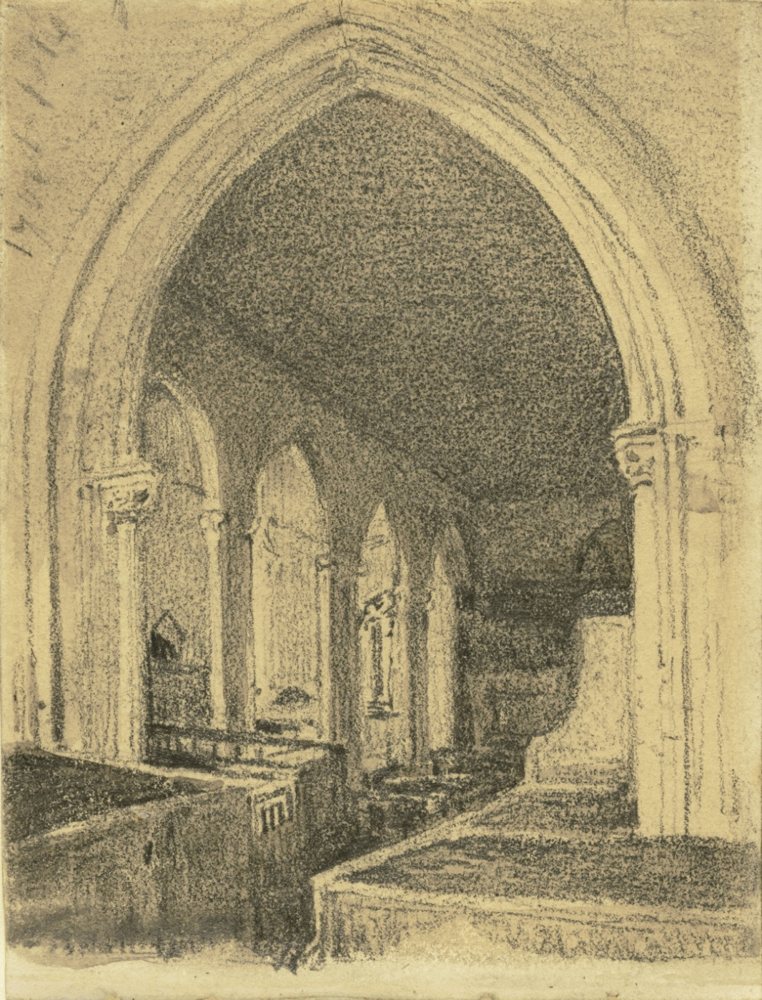John Constable. The interior of the Church of St Andrew, Preston