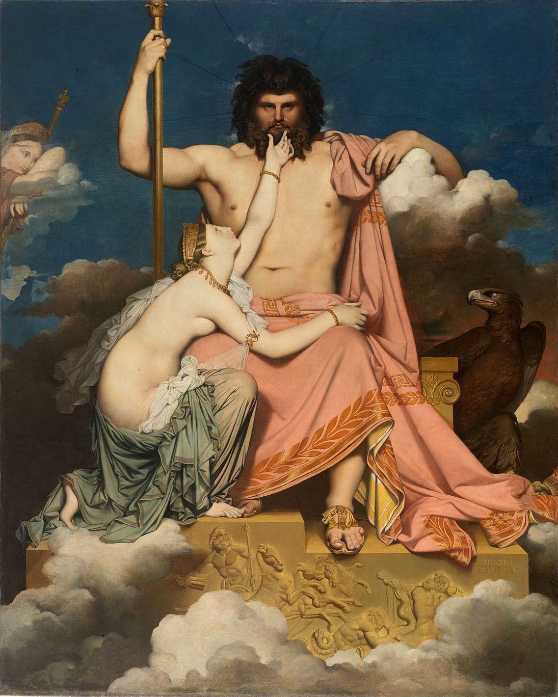 Jean Auguste Dominique Ingres. Jupiter and Thetis