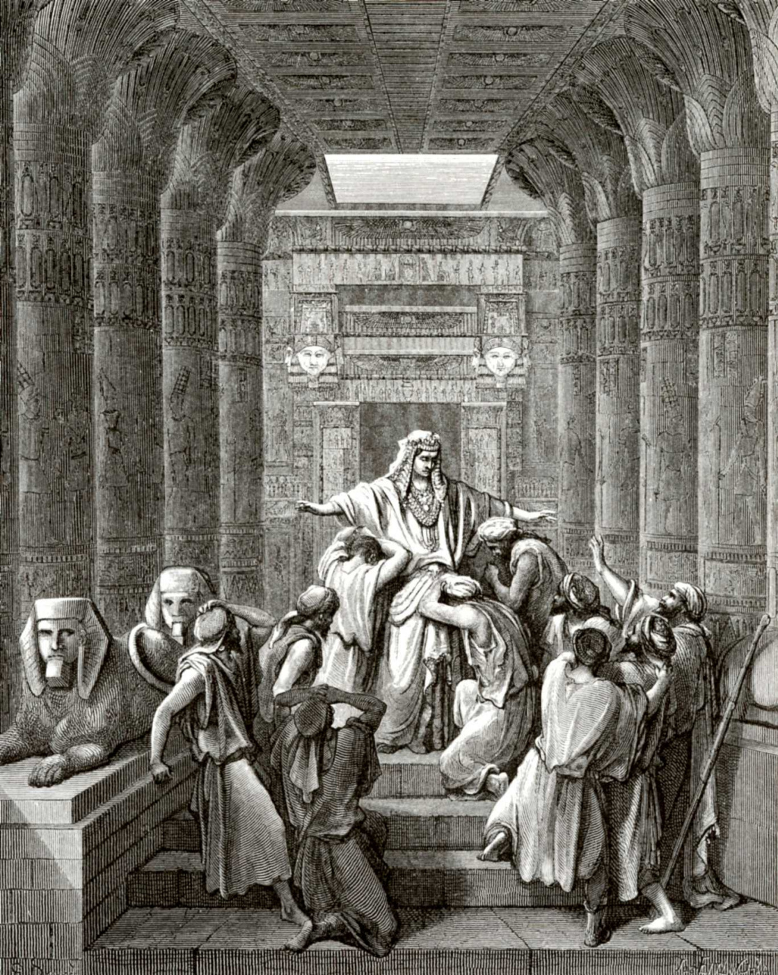 Paul Gustave Dore. Illustration to the Bible: Joseph opens to his brothers