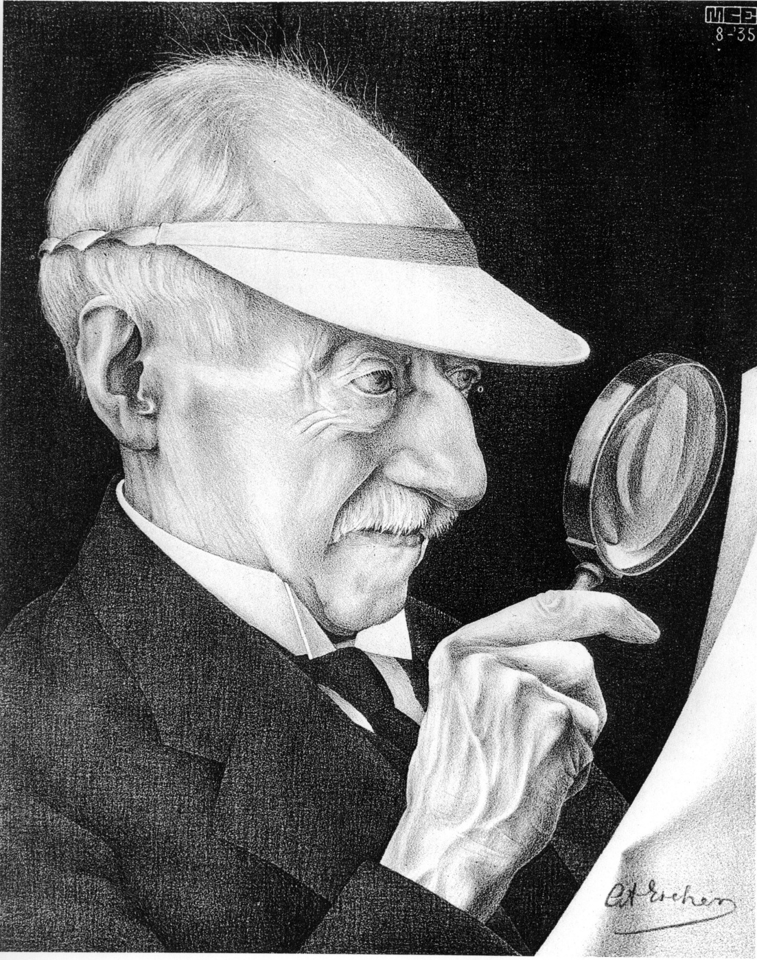 Maurits Cornelis Escher. Portrait of G. A. Escher