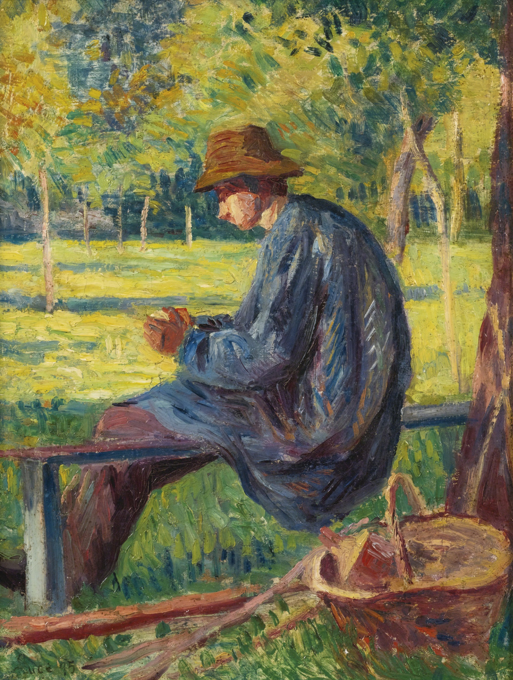 Maximilian Luce. Louis-Rudolph Pissarro in his father's garden