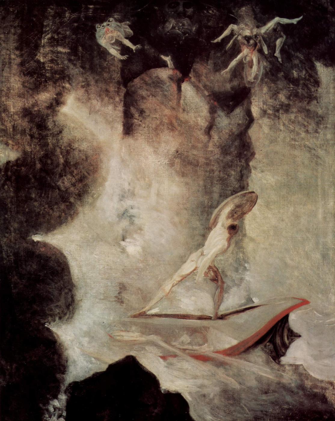 Johann Heinrich Fuessli. Odysseus in front of Scylla and Charybdis